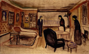 Scène des Revenants. Edvard Munch, 1906